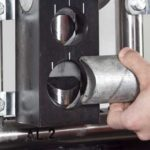Detail of the Almi AL2 Manual Tube Notcher