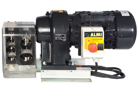 Front view Almi AL1-2E Tube Notching Machine