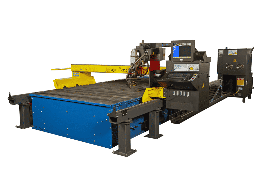 Side view of the Ajan-High-Definition-CNC-Plasma-Cutting-Machine