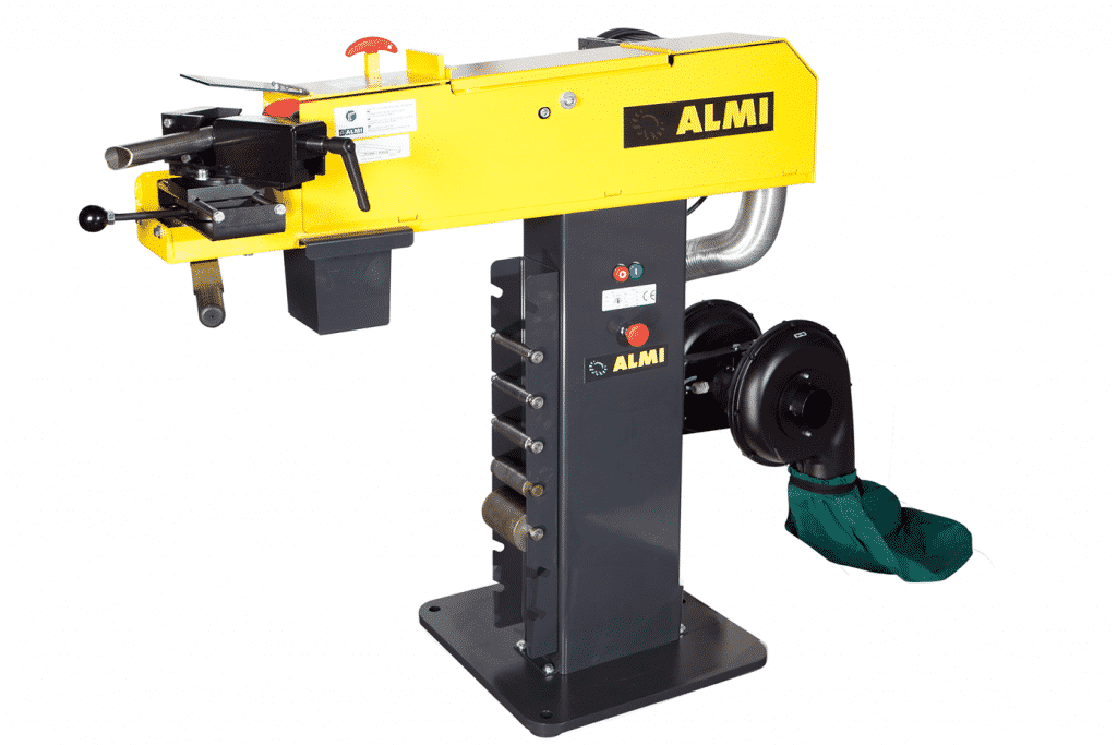 Side view Almi-AL100u-Tube-Notcher-with-Dust-Collector