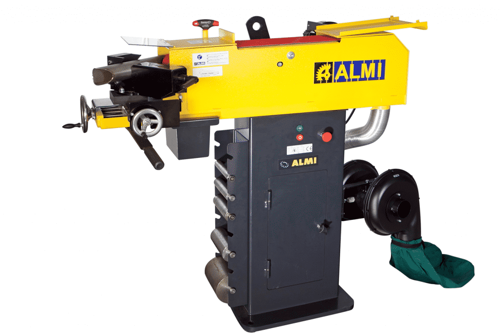 Front view Almi-AL150-Tube-Notcher-with-Dust-Collector-Attachment