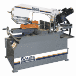 Front view of the Bauer S280 DG Auto Down Feed Double Mitre Bandsaw