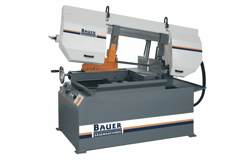 Front view of the Bauer-S320Dg-Double-Mitre-Bandsaw