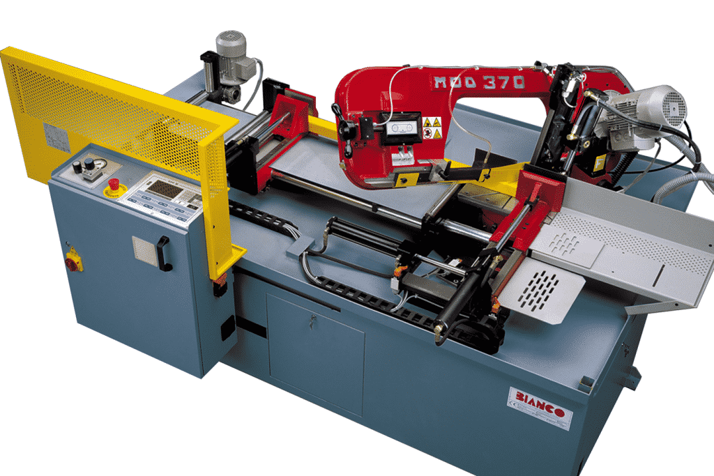 Ariel view of the Bianco 370A DS CNC Fully Automatic Bandsaw
