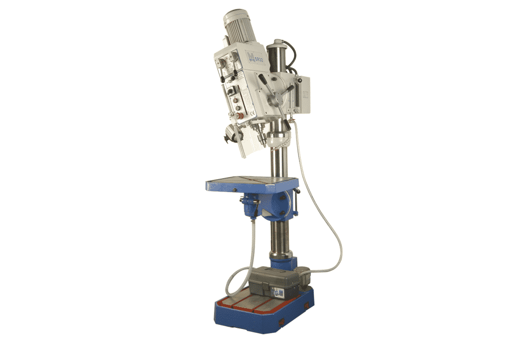 Front view Meyer-SR32AE-Pillar-Drill-with-tilting-head-detail