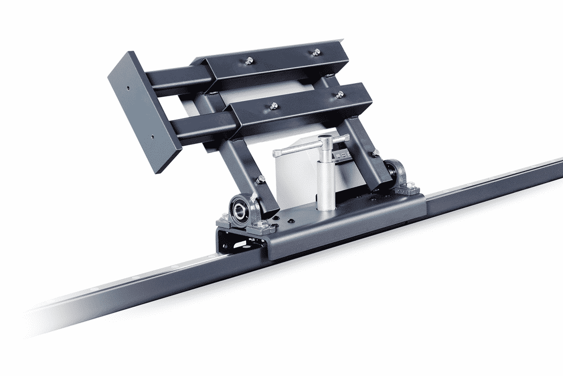 Detail of the Pehu LMS15 Roller Track Measuring System