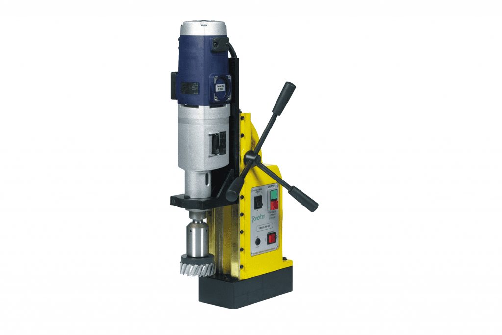 Front View Powerbor-PB100E-&100Sb-Magnetic-Drilling-Machine-with-Swivel-Base