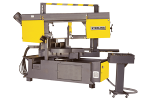 Front view Sterling STC 360 DGSA Twin Pillar Double Mitre S/A Bandsaw 415V