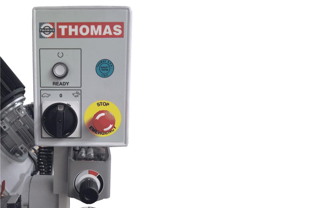 Close detail of Thomas Zip Control Panel