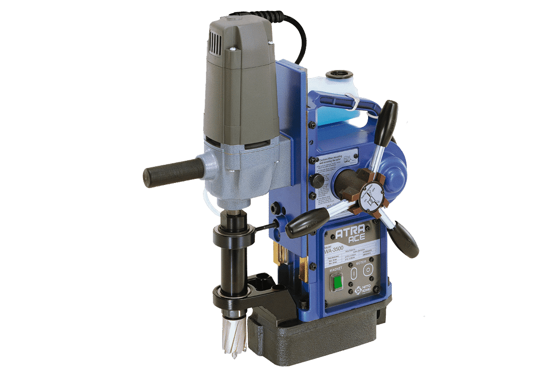 Front view Ultra-Ace-3500-Power-Feed-Magnetic-Drill-110V-Detail