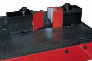 Close up detail Flat Bar Bending on a Simasv Horizontal Press