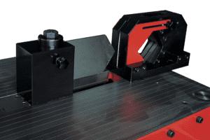 Close up detail Shearing on a Simasv Horizontal Press