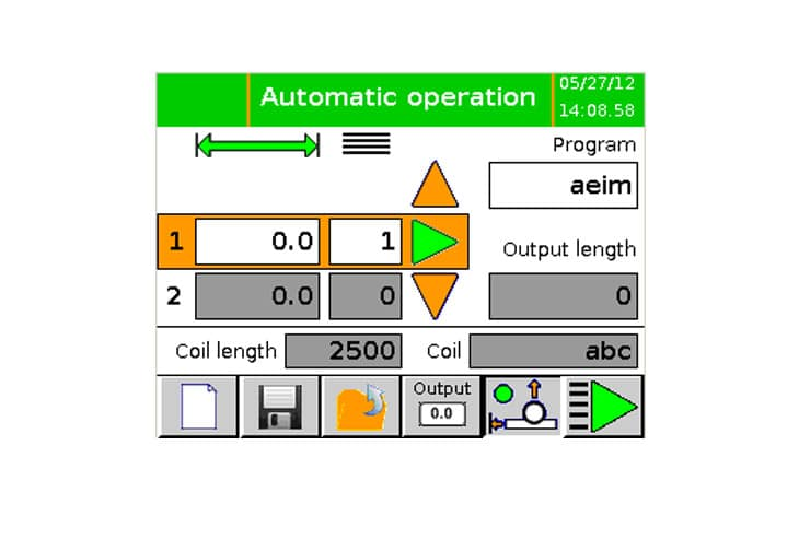 LineLink Touch Screen Control - Automatic Operation
