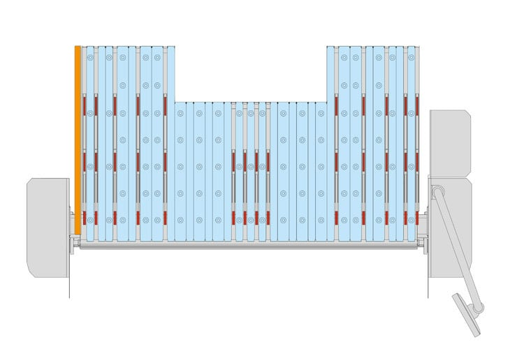 Optional SBG Back Gauge Diagram