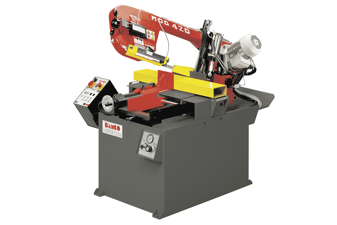 Front view - Bianco-SA-DS-Double-Mitre-Semi-Automatic-Bandsaw