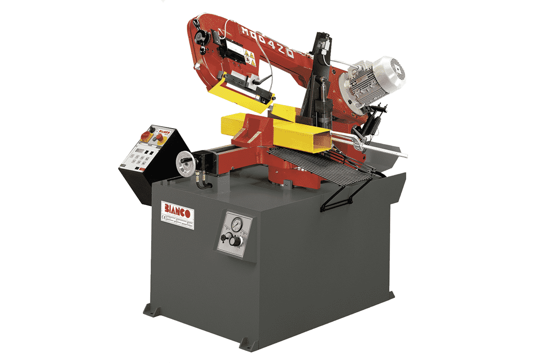 Front view - Bianco-SAE-Single-Mitre-Semi-Automatic-Bandsaw