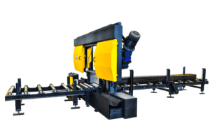 STC 820 SA Bandsaw featured with an optional roller track