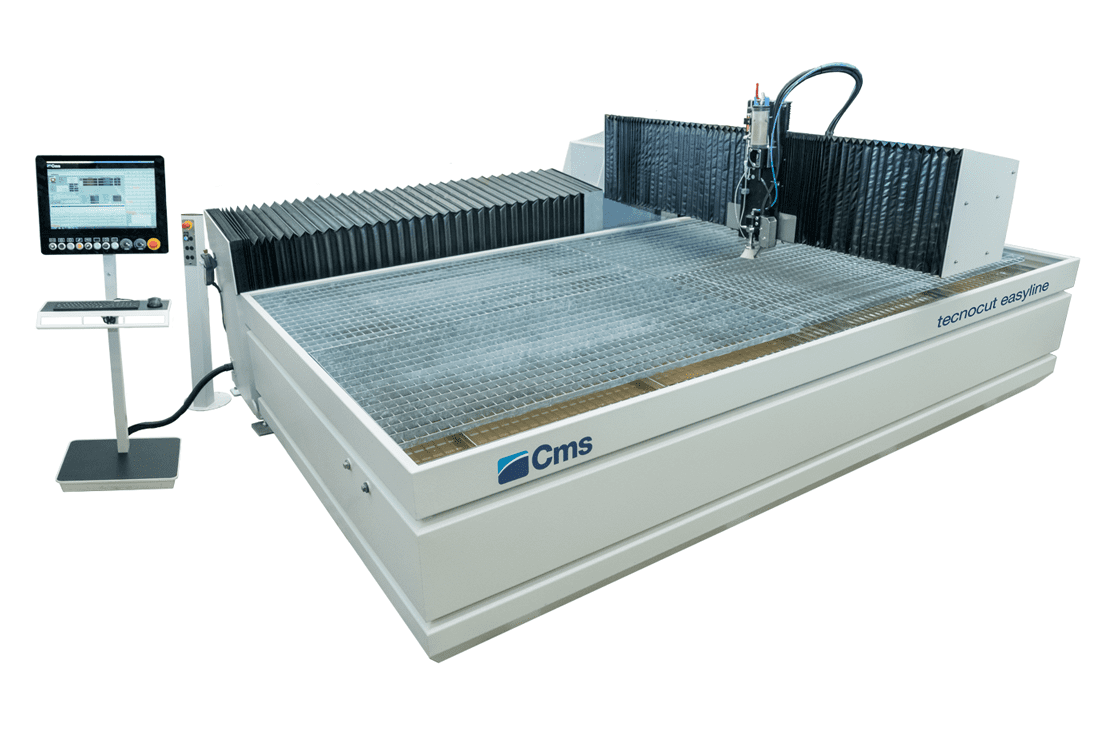 Front view of the CMS Tecnocut Easyline Waterjet