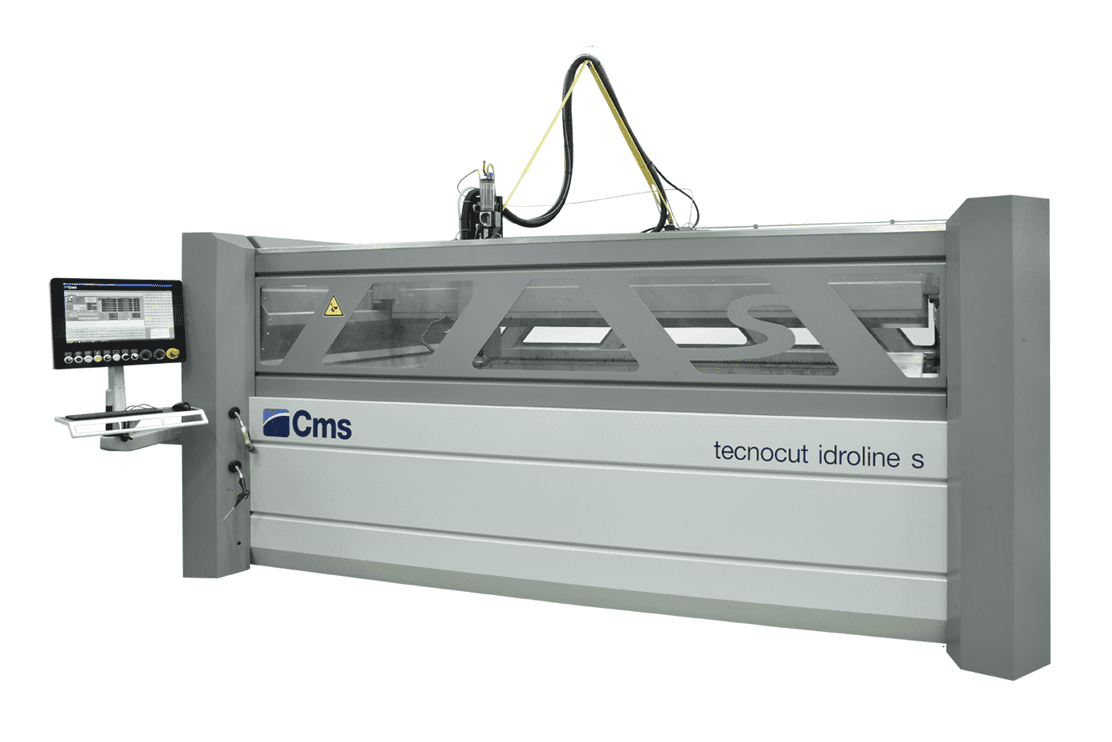 Front view of the CMS Tecnocut Idroline S Waterjet
