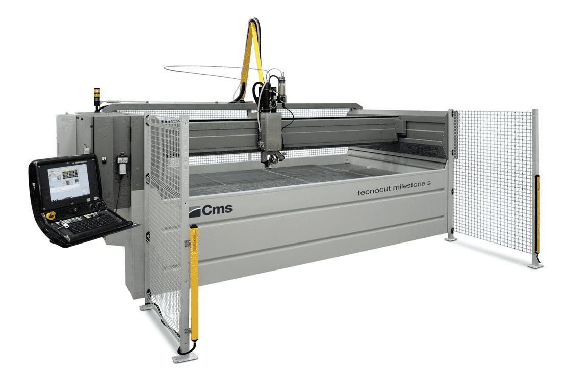 Front view - CMS-Tecnocut-Milestone-Waterjet-Machine