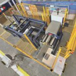 Arial view of MG CNC Bending Rolls with safety cage