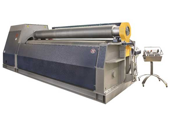 Front view MG M Series Hydraulic 4-Roll Bending Rolls