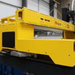 The wide rails of the Ajan Plasma Cutting Machine Gantry