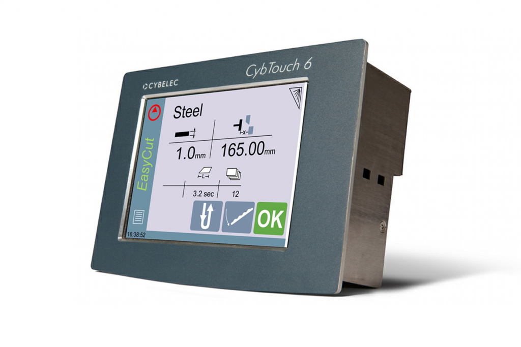 Side view of the Cybelec-Cybtouch-6-Control-Panel