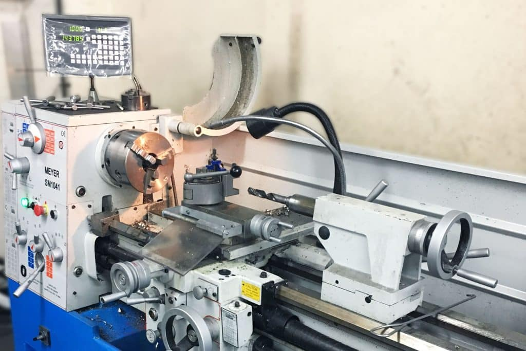 Image of a Meyer Lathe installed at WRES