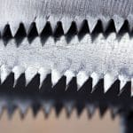 Image of saw blades close up