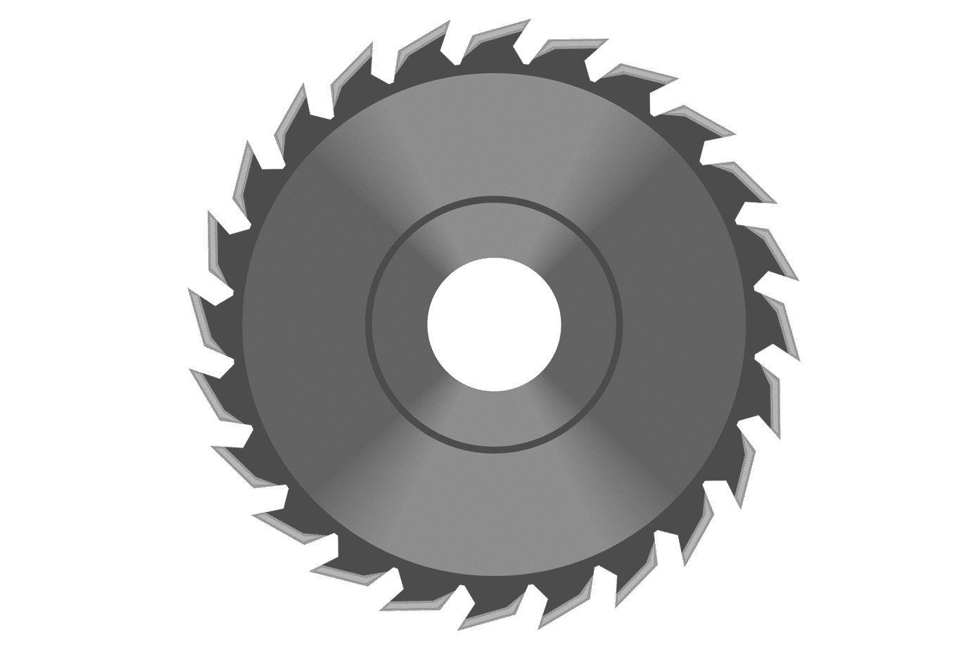 Graphic of a circular saw blade