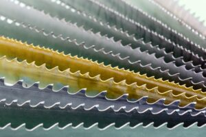 Image of bandsaw blade selection close up