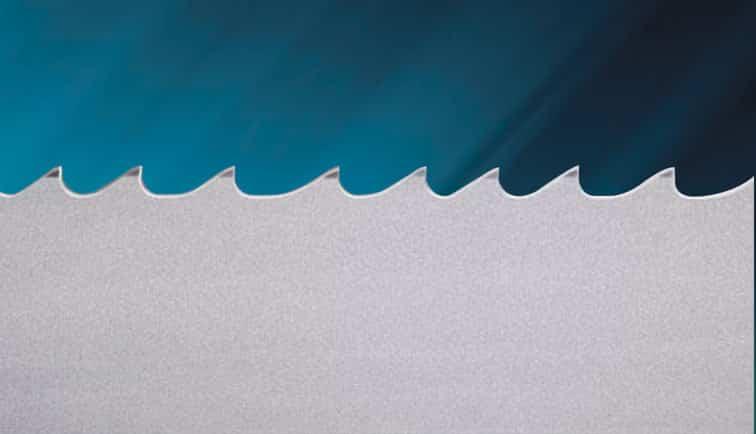 Illustration of the M424 Bi Metal Bandsaw Blade Teeth