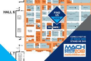 Image of our stands on the NEC MACH2018 Floor Plan