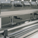 Image showing the top and bottom tooling, backgauge and arms on a pressbrake