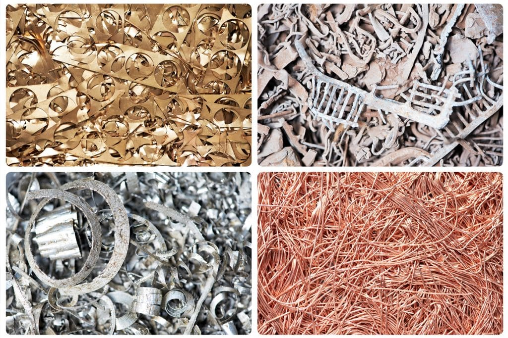 Image of different ferrous and non ferrous metal samples