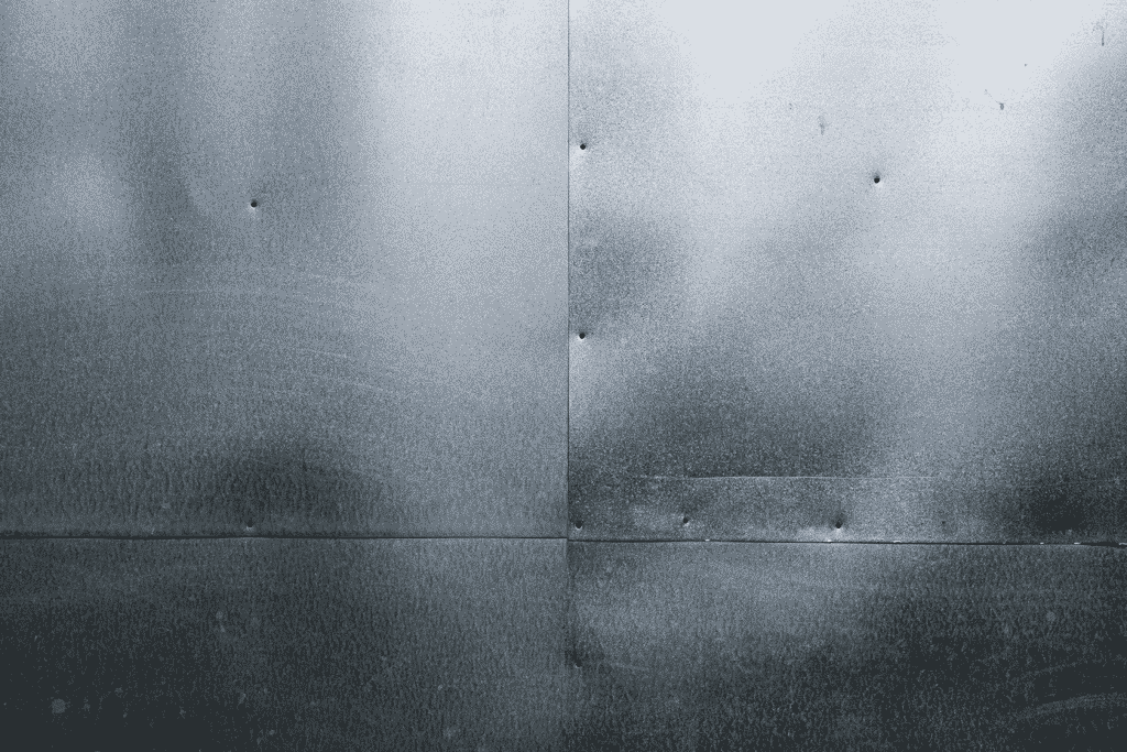 Image of sheet metal with dents and defects