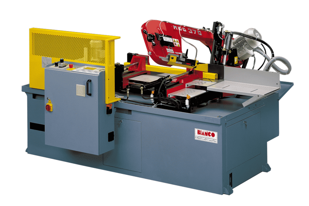 Front view of the Bianco-370A-CNC-Fully-Automatic-Single-Mitre-Bandsaw