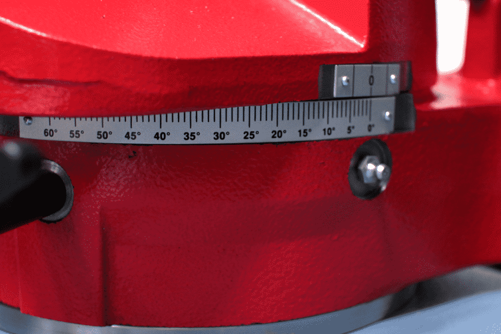 Close up detail of the Mitring Scale