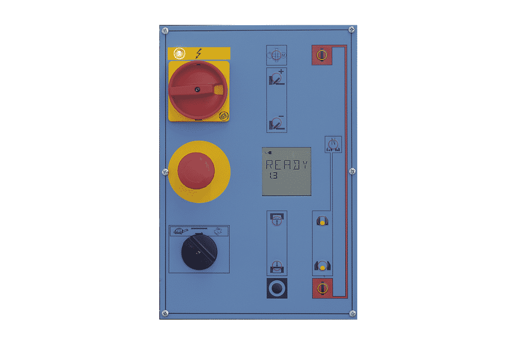 Ariel view of the Semi Automatic Control Panel