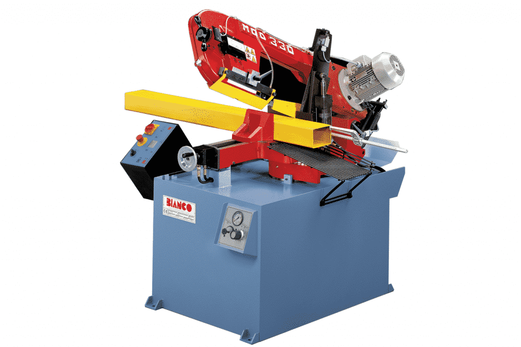 Front view of the Bianco-SA-330-Semi-Automatic-Single-Mitring-Bandsaw