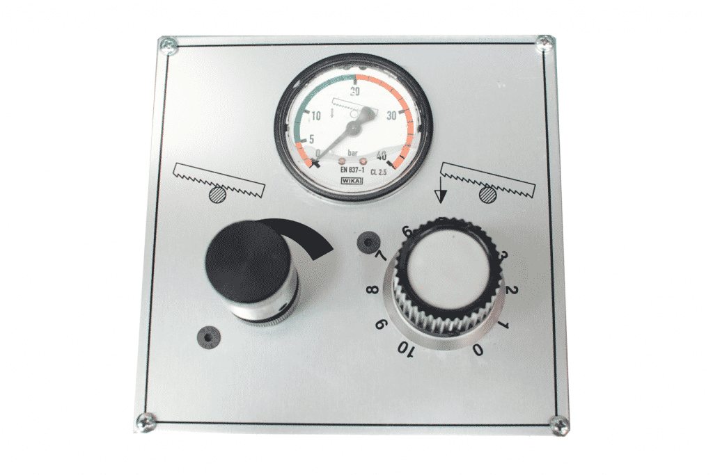 Close up detail of Bianco-Semi-Automatic-Sensitive-Hydraulic-Downfeed-Control