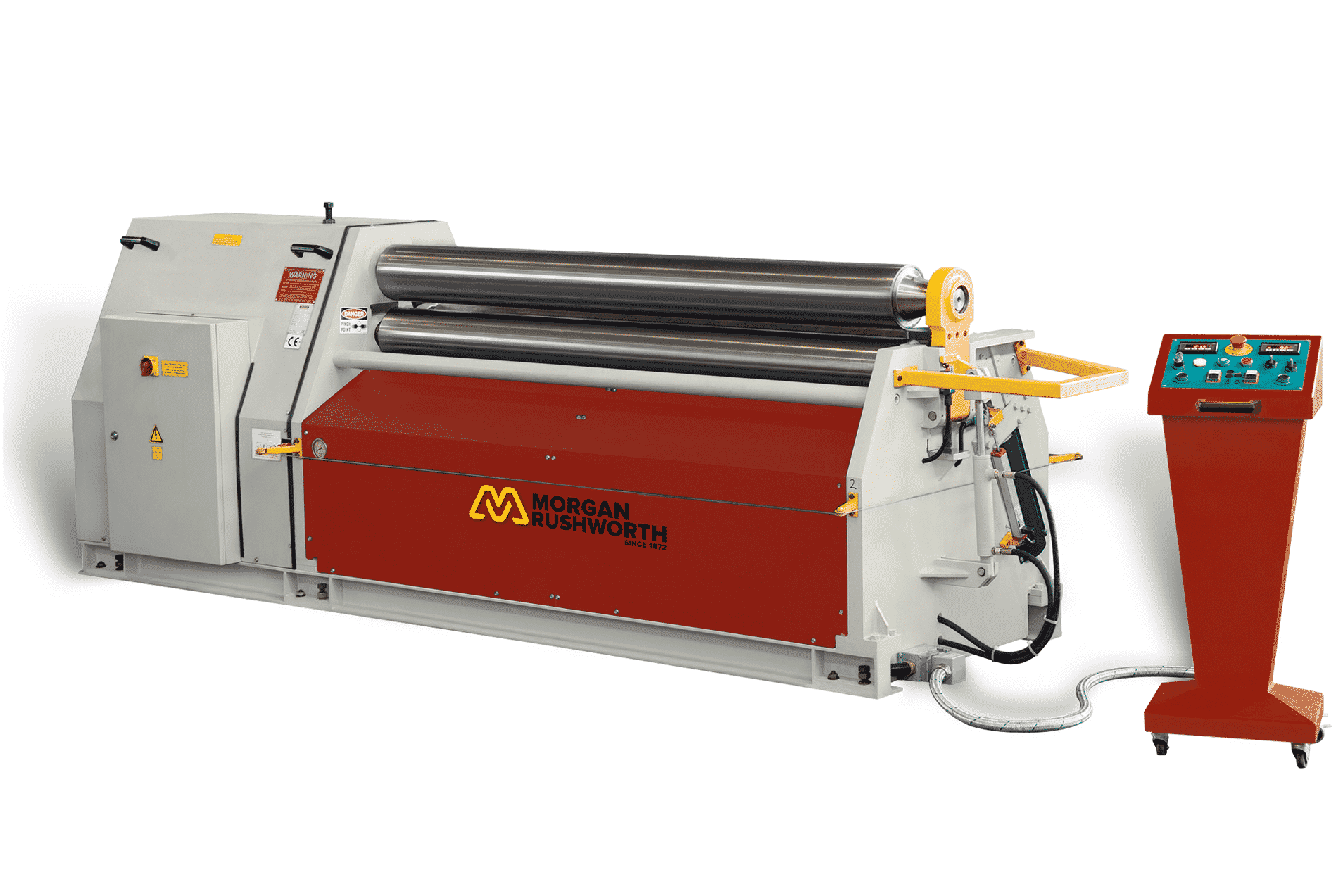 Front view of the Morgan Rushworth ASBH Bending Roll featured with the standard controller
