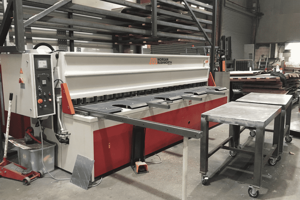 Casestudy image of a Morgan Rushworth Guillotine onsite at SW Asgood Engineering
