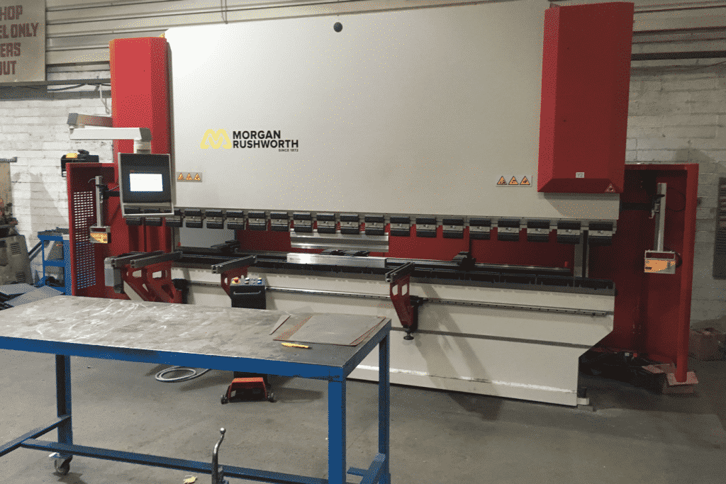 Casestudy image of a Morgan Rushworth Press Brake onsite at SW Asgood Engineering