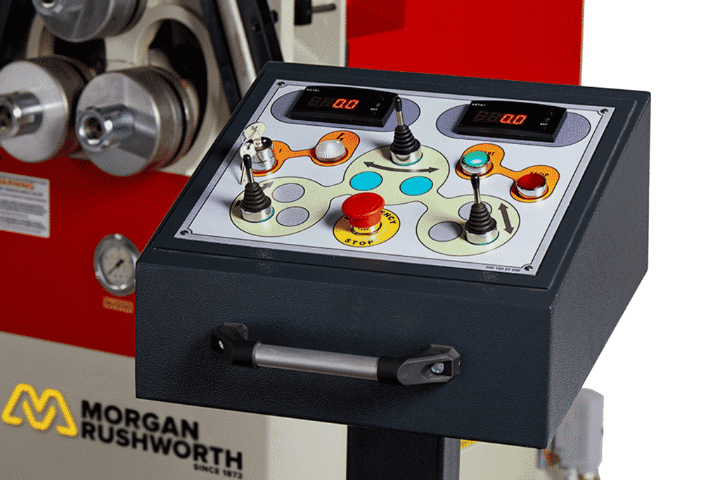 Detail of a NC Control Panel for the Morgan Rushworth HSR-3 Section Ring Roller