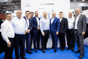Selmach, RS and Bison Directors meeting on the Eagle Laser Stand at EuroBlech 2018