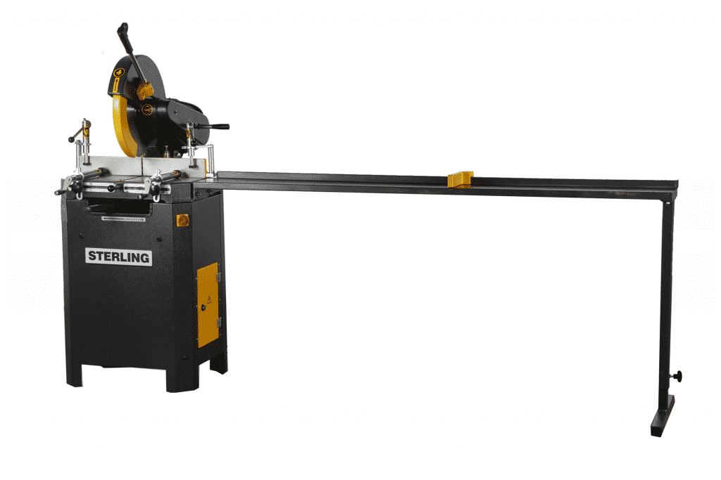 Front view Sterling-SAR-400-Aluminium-Circular-Saw-with-roller-conveyor