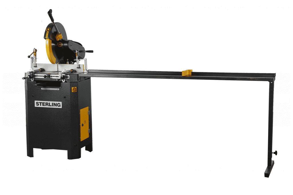 Front view Sterling-SAR-400-Aluminium-Circular-Saw-with-roller-conveyor