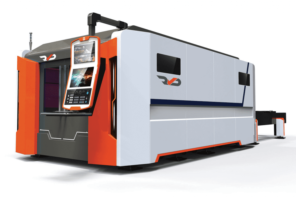 Front view of the RVD PRO Fibre Laser